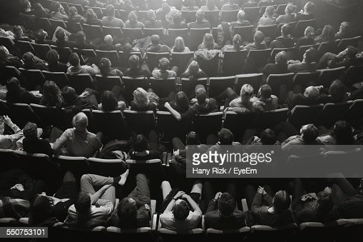 High Angle View Of Audience In Theater