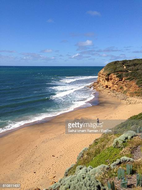 High angle view of Bells Beach
