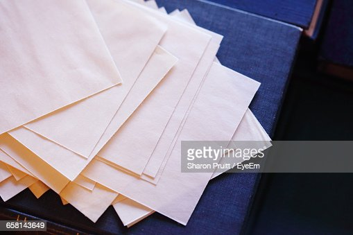 High Angle View Of Blank Paper On Table