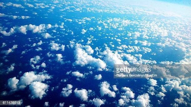 High Angle View Of Blue Sky And Clouds
