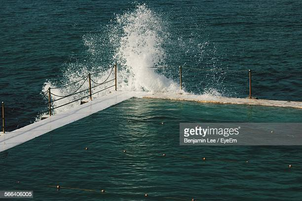 High Angle View Of Bondi Icebergs Pool