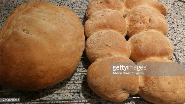 High Angle View Of Bread
