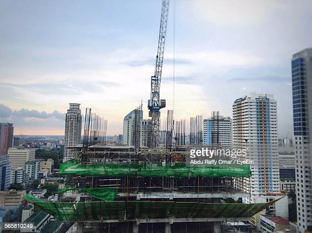 High Angle View Of Building Under Construction