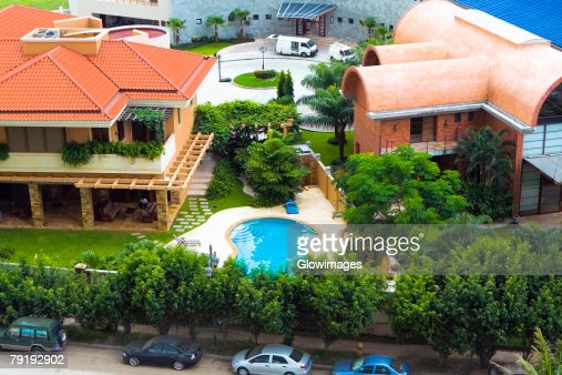 High angle view of buildings in a city, Panama : Foto de stock