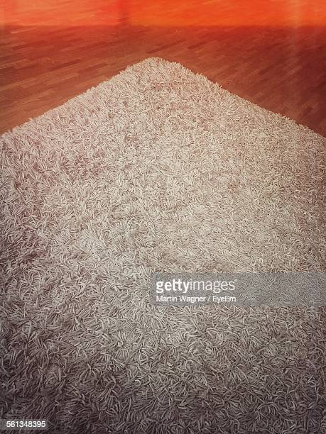 High Angle View Of Carpet On Floor