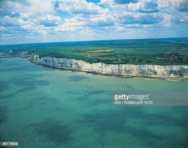 High angle view of coastline Dover England