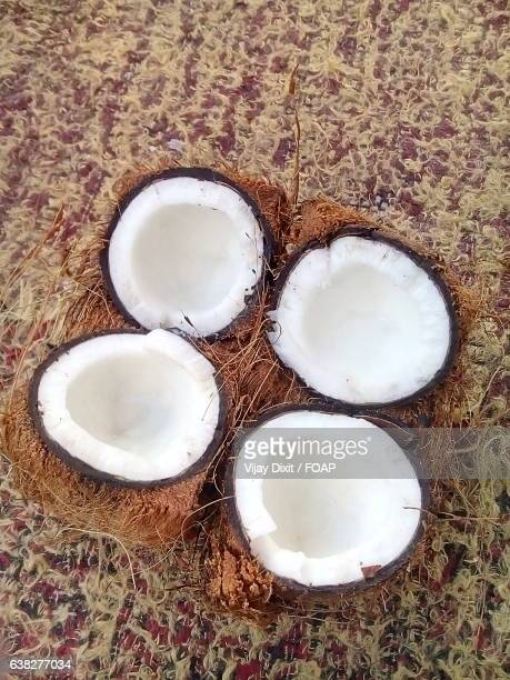 High angle view of coconut