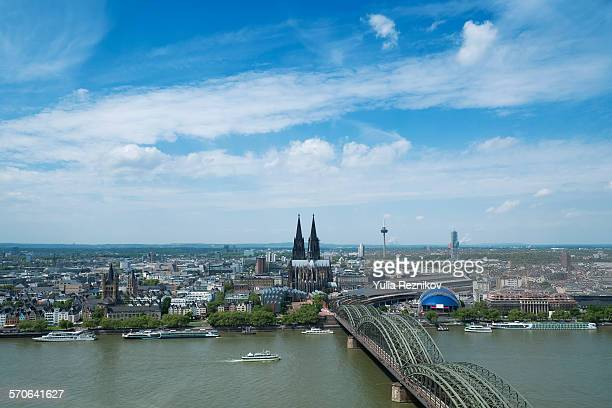High angle view of Cologne, Germany