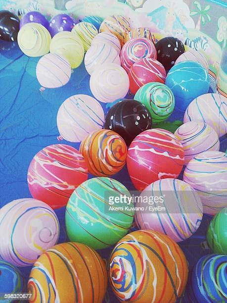 High Angle View Of Colorful Balloons