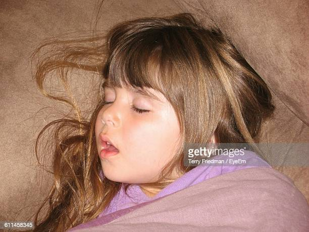 Little Girls Sleeping Mouth Open Stock Photos And Pictures