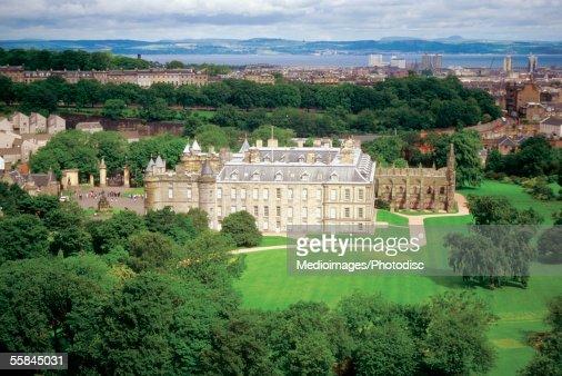 High angle view of Edinburgh Castle, Edinburgh, Scotland : Stock Photo
