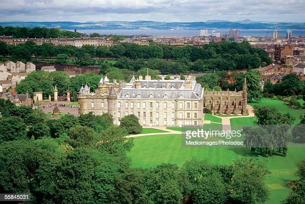 High angle view of Edinburgh Castle, Edinburgh, Scotland