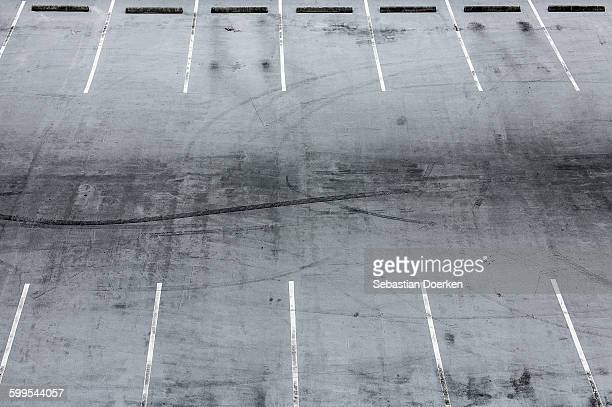 High angle view of empty parking lot