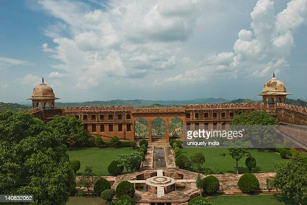 High angle view of garden in a fort, Jaigarh Fort, Jaipur, Rajasthan, India