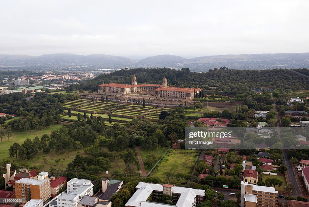 High angle view of government building, union buildings, Gauteng Province, South Africa
