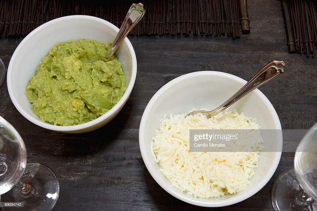High angle view of guacamole : Stock Photo