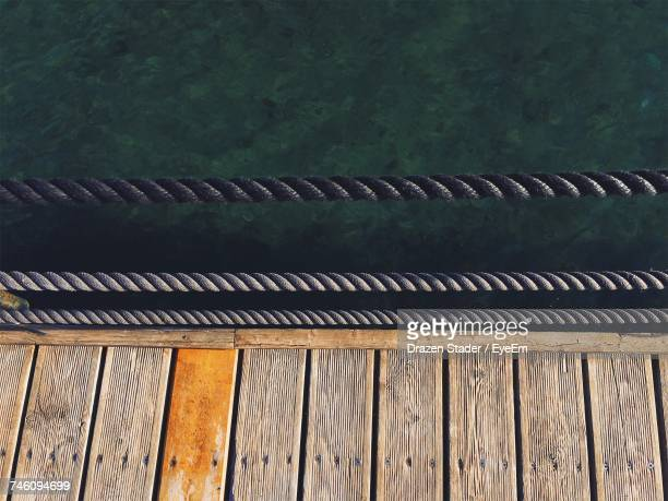 High Angle View Of Jetty By Sea