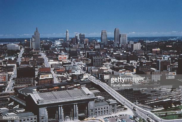 A high angle view of Kansas City from the Liberty Memorial Missouri USA circa 1960