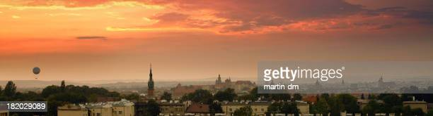 Vista de alto ángulo de Cracovia
