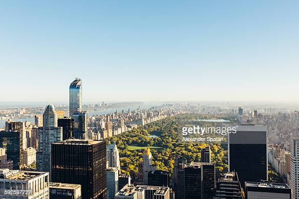 High angle view of Manhattan and Central Park, NYC