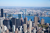 High angle view of Manhattan in New York City.  View from Empire State Building.