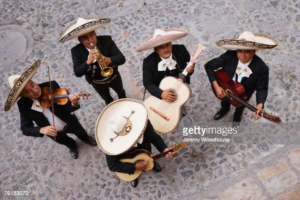 High angle view of Mariachi band