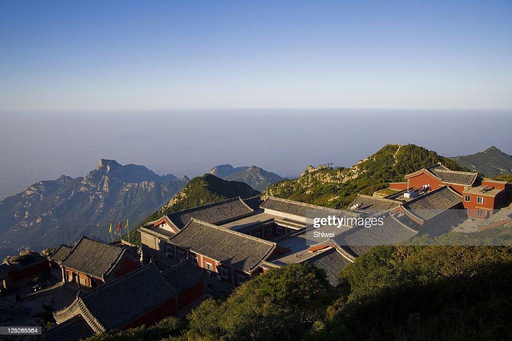 High Angle View of Mount Tai,Shandong
