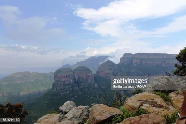 High angle view of mountain