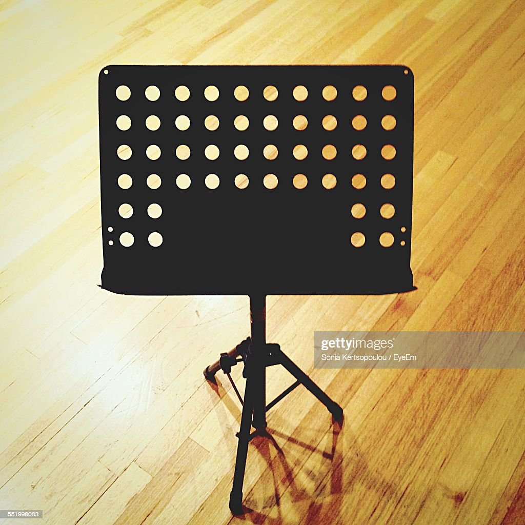 High Angle View Of Music Stand