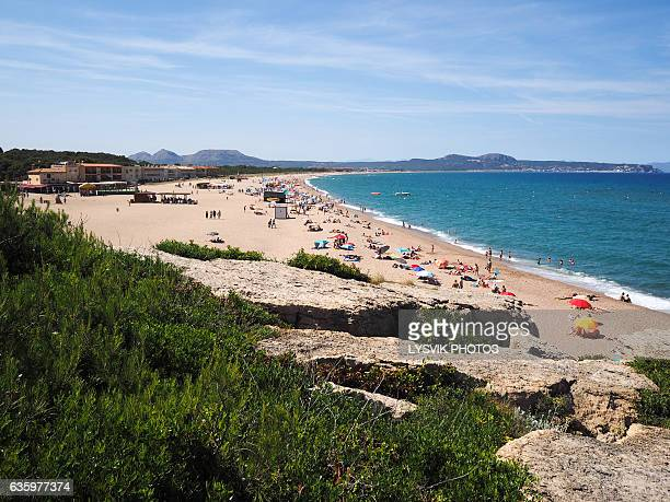 High angle view of Pals beach, Catalonia