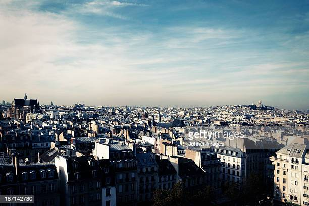 High angle view of Paris