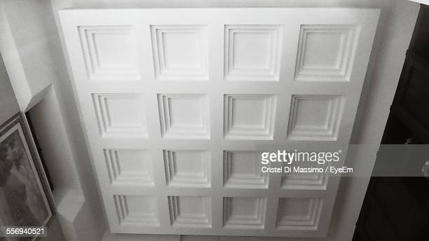 High Angle View Of Patterned Wall In House