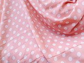 High Angle View Of Polka Dot Patterned Fabric