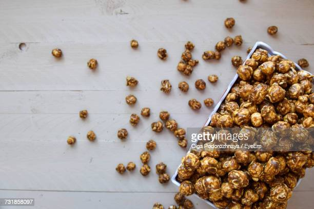 High Angle View Of Popcorn