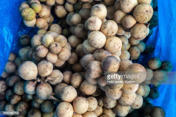High Angle View Of Potatoes For Sale In Market