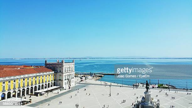 High Angle View Of Praca Do Comercio
