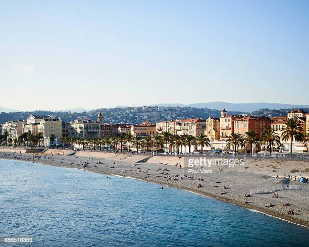 high angle view of promenade des Anglais- Nice