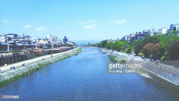 High Angle View Of River In Japan