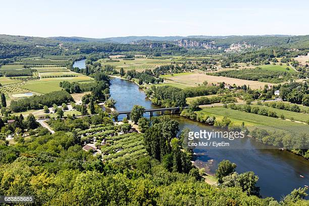 High Angle View Of River In Landscape