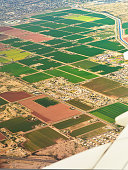 High Angle View Of Rural Landscape