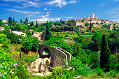 High angle view of Saint Paul de Vence, French Riviera, France
