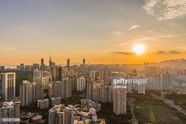 High angle view of Shenzhen