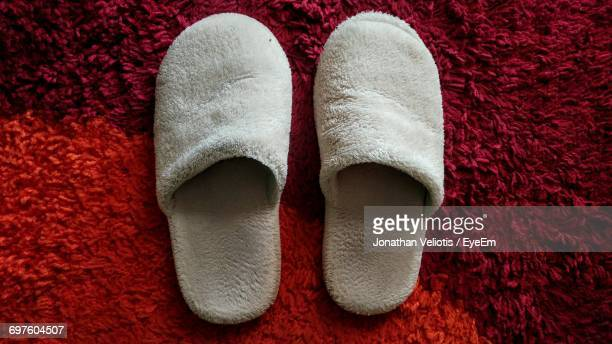 High Angle View Of Slippers