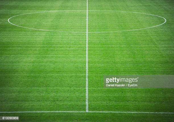High Angle View Of Soccer Field