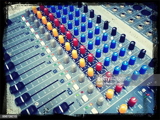 High Angle View Of Sound Board