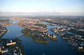 Vista de ângulo elevado de Estocolmo