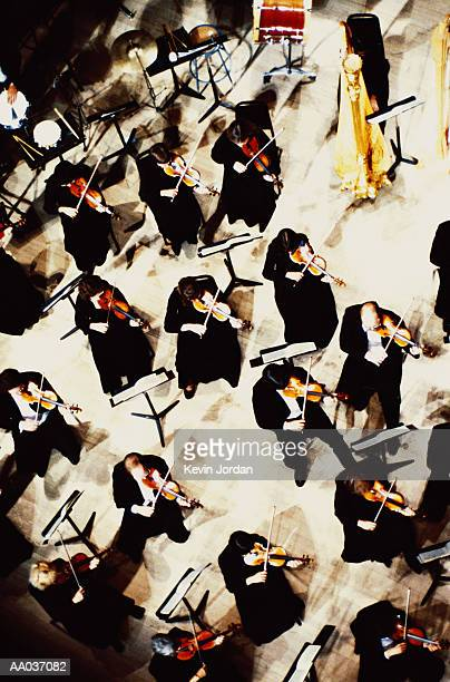 High Angle View of Symphony Orchestra