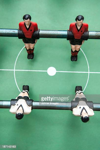 High angle view of table soccer