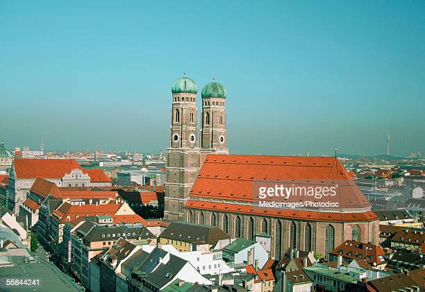 High angle view of the Church of Our Lady, Munich, Germany