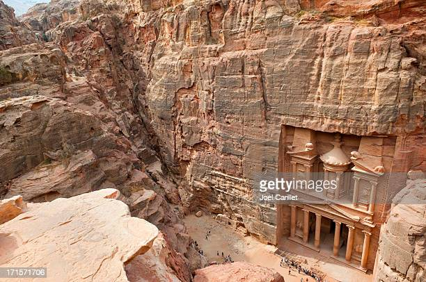 The Petra Treasury from above
